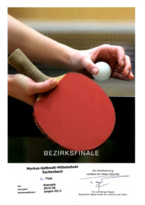 Tischtennis Regionalentscheid