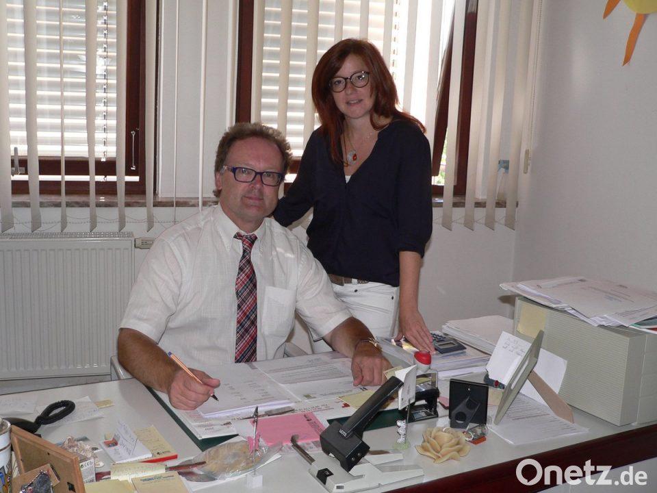 Rektor Wolfgang Bodensteiner und Konrektorin Anja Bräu leiten die Markus-Gottwalt-Schule Zwei Neue im Doppelpack