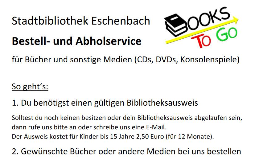 Info der Bücherei für alle Schüler