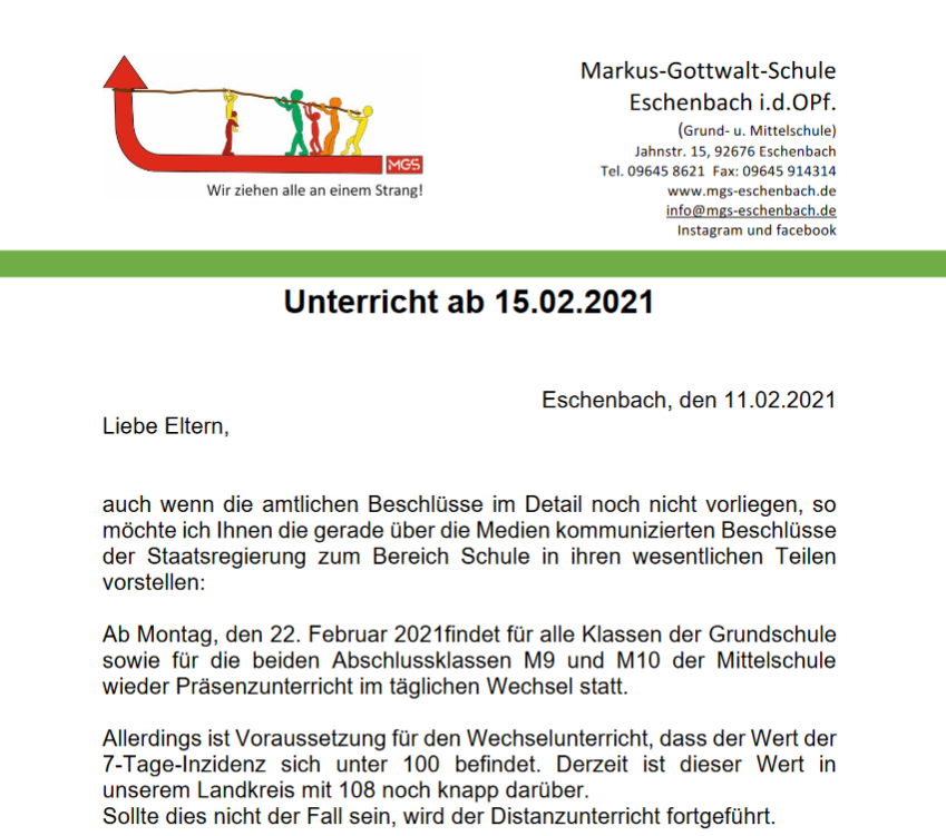 You are currently viewing Eltern Info 11.2.21