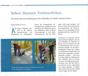 Read more about the article Sehen Staunen Verinnerlichen