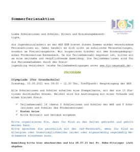 Read more about the article JAS Ferienaktion