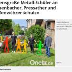 Lebensgroße Metall-Schüler an Eschenbacher, Pressather und Grafenwöhrer Schulen