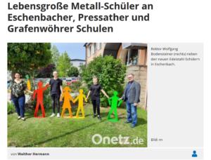 Read more about the article Lebensgroße Metall-Schüler an Eschenbacher, Pressather und Grafenwöhrer Schulen