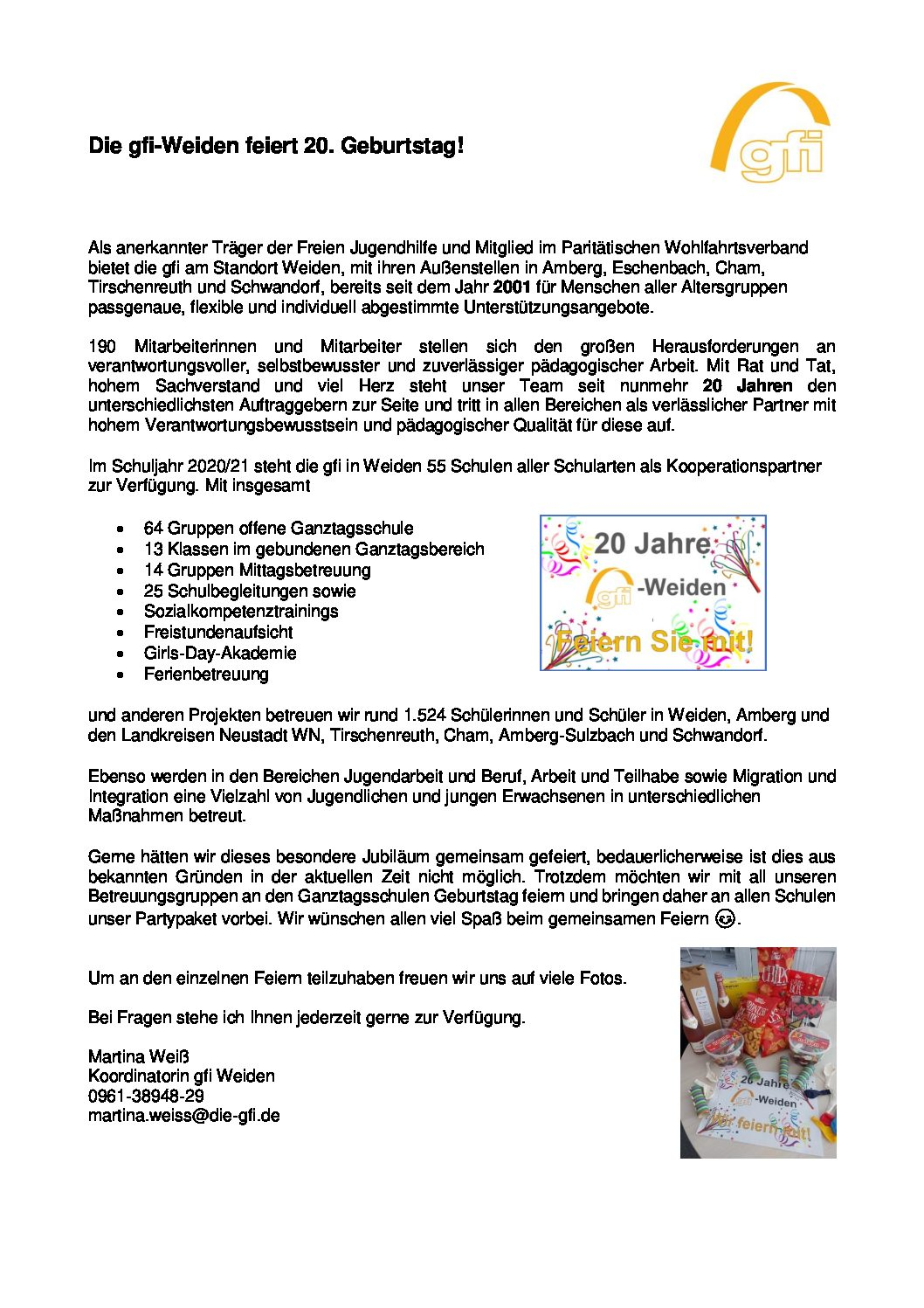 Read more about the article Jubiläum GFI